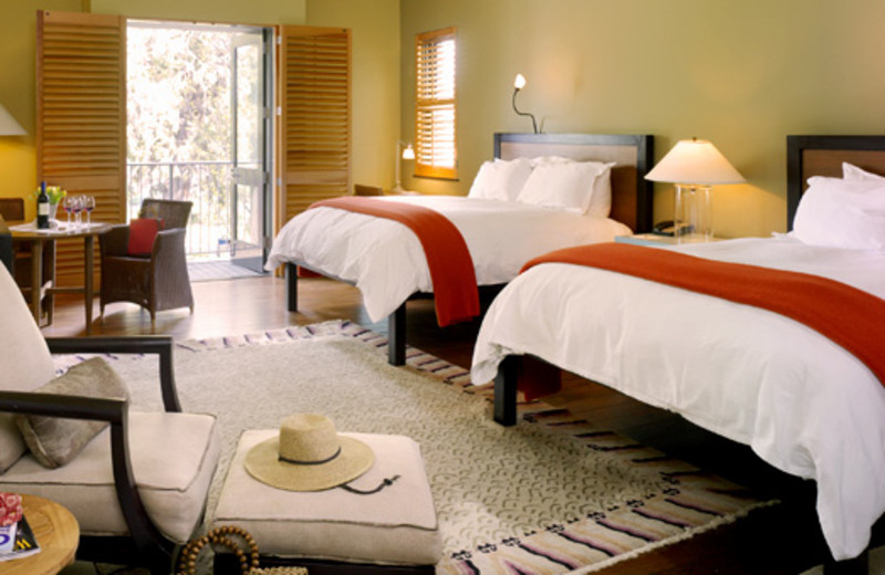 Double guest room at Hotel Healdsburg.