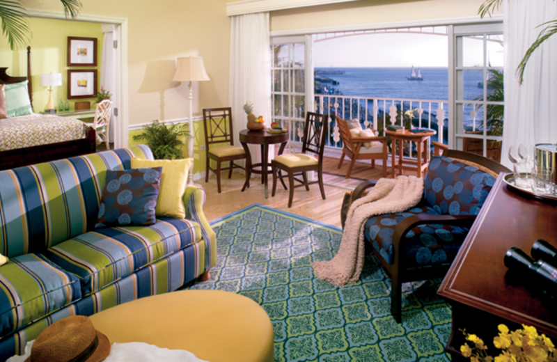 Guest room at Ocean Key Resort & Spa.