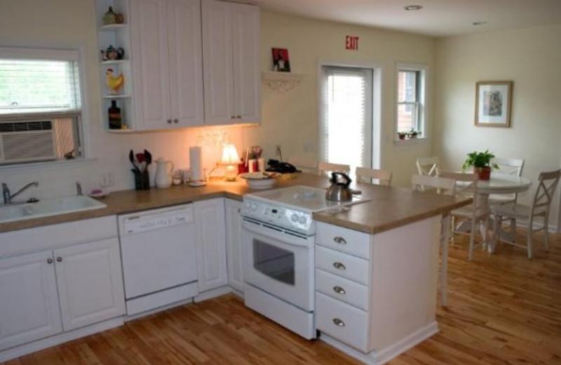 Kitchen and dining room at Seneca Springs Resort.