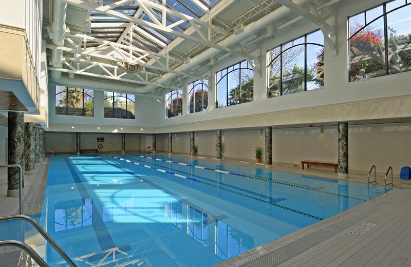 Indoor pool at Hotel Grand Pacific.