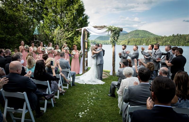 Wedding at Golden Arrow Lakeside Resort.