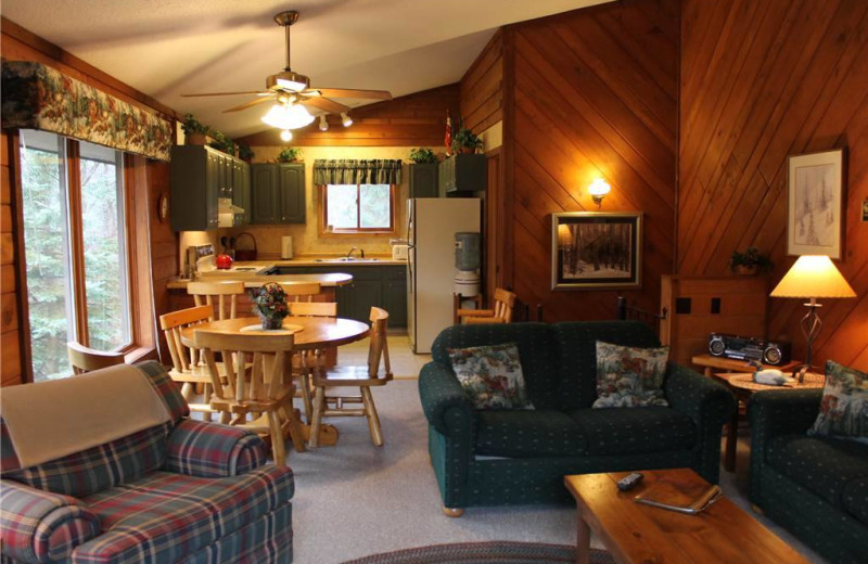 Vacation rental interior at Big Powderhorn Lodging.