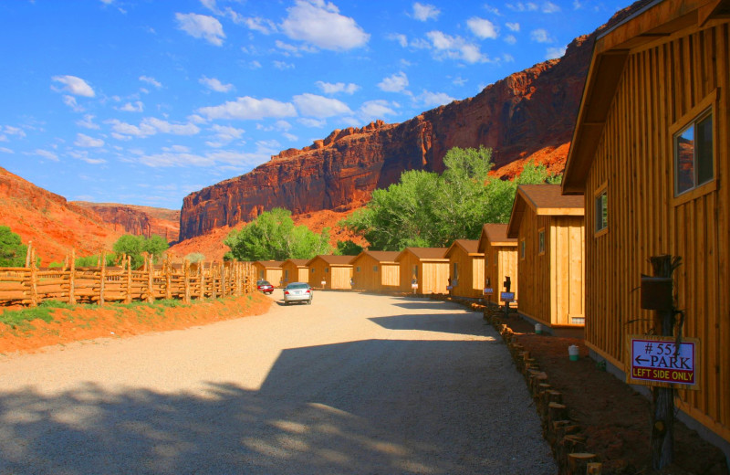 Cabin at Red Cliffs Lodge.