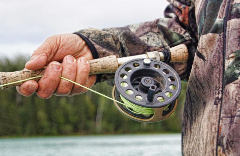 Fly fishing at Arctic Lodges.