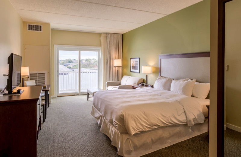 Guest room at The Inn at Harbor Shores.
