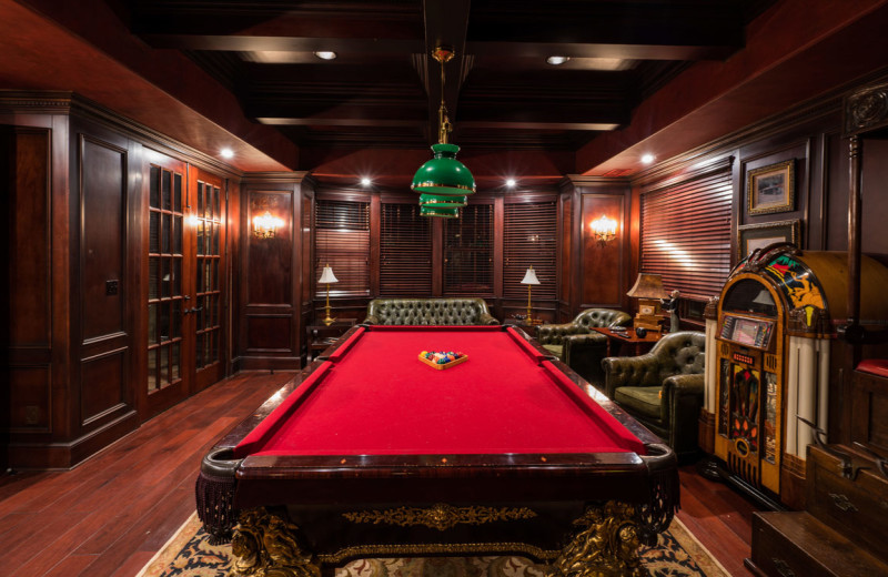 Billiard table at Lions Gate Estate.