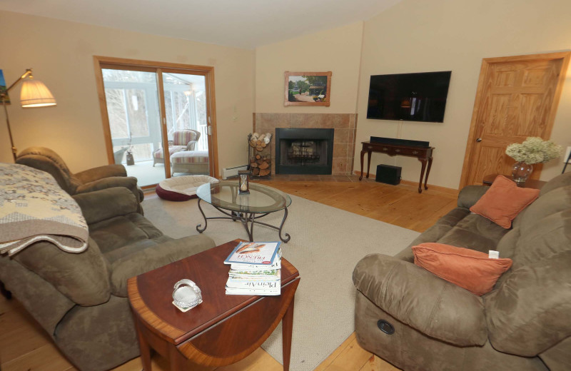 Rental living room at Stowe Country Homes.