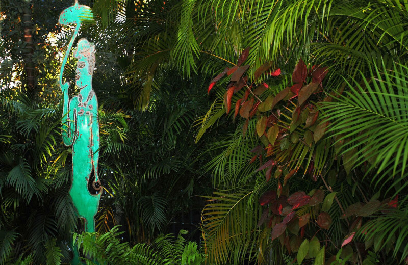 Sculpture at Parrot Key Resort.