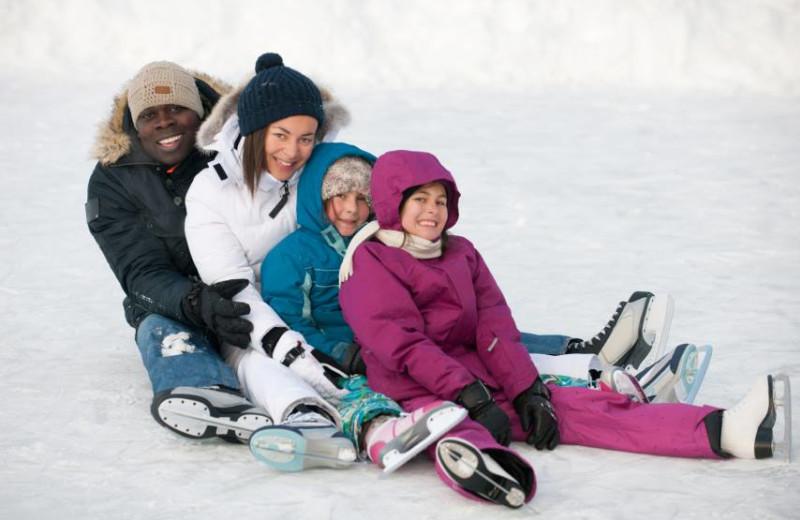 Family at Fiddler Lake Resort.