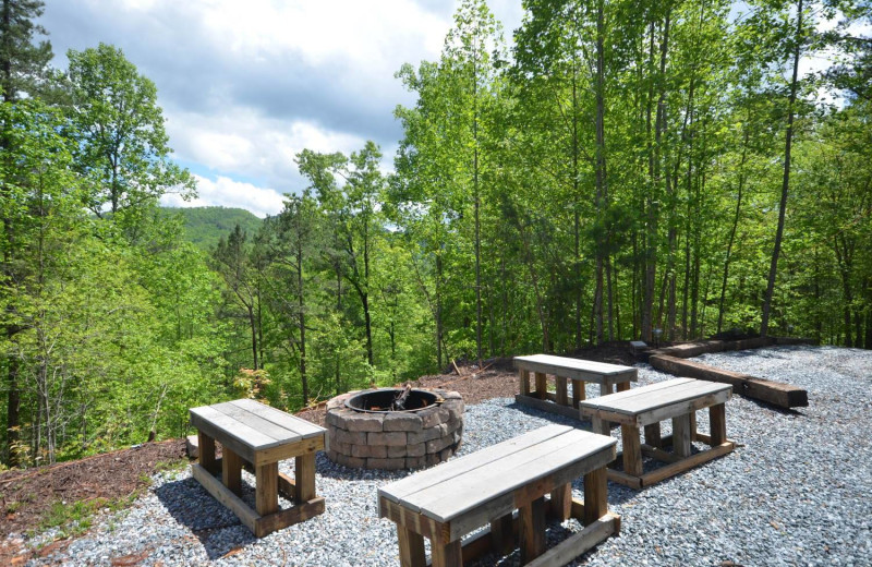 Rental patio at Smoky Mountain Cabins.