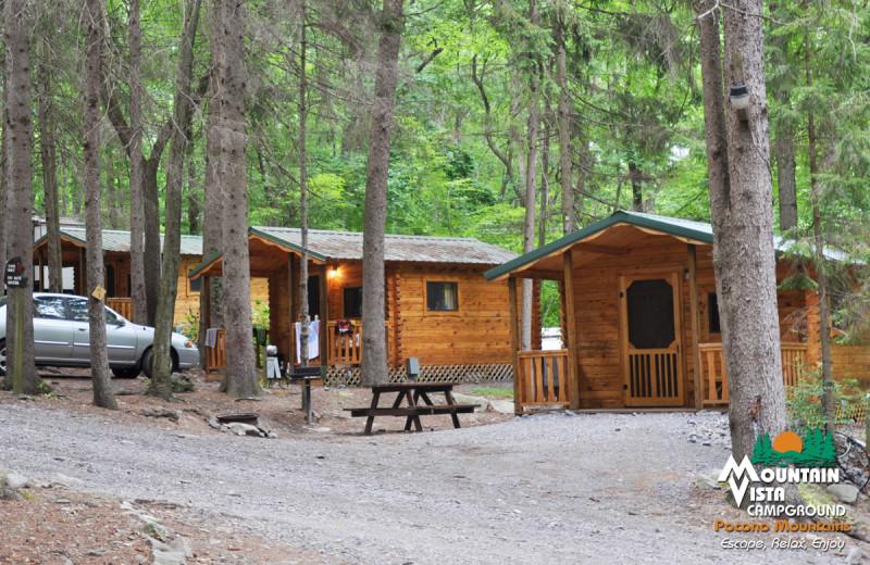 Cabins at Mountain Vista Campground.