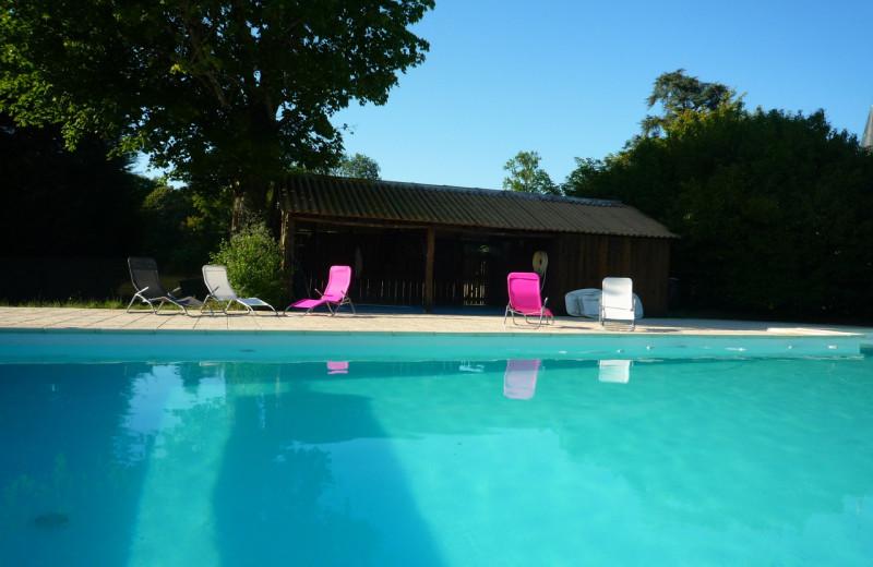 Outdoor pool at Chateau du Boisrenault.