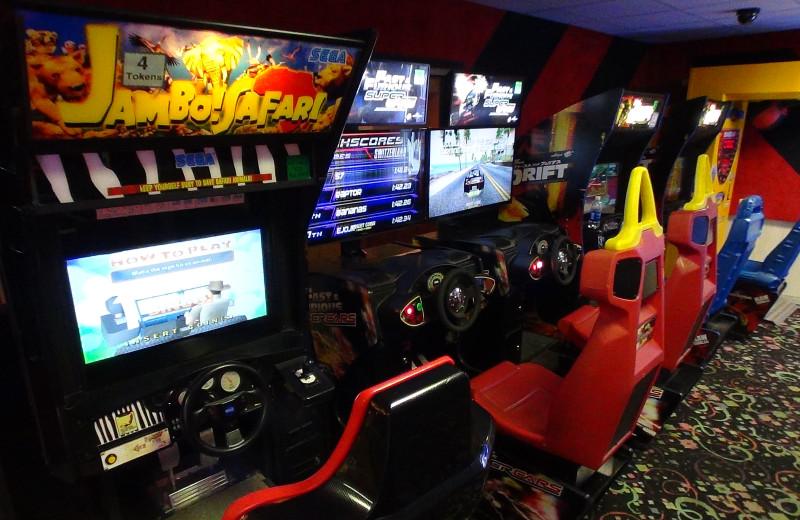Video arcade at Villa Roma Resort.