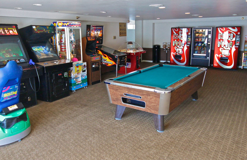 Arcade room at Flagship Oceanfront Hotel Ocean City.
