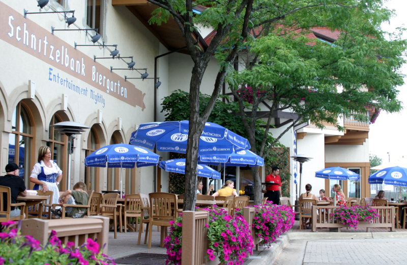 Patio  dining at Bavarian Inn of Frankenmuth.