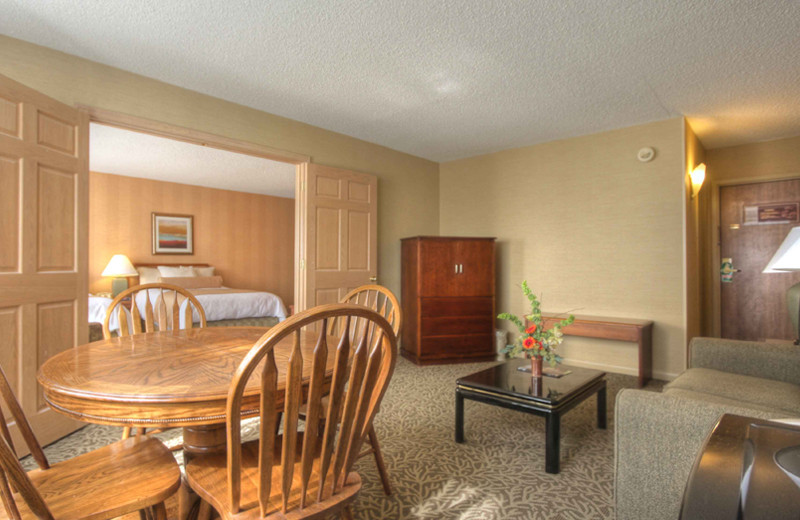 Guest room at Toftrees Golf Resort and Conference Center.