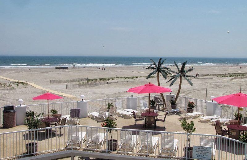 Beach view at Paradise Oceanfront Resort.