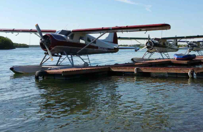 Sea planes at Alaska's Gold Creek Lodge.