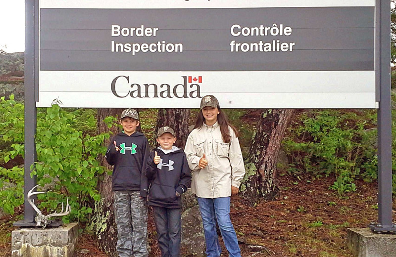 Canada border at Zup's Fishing Resort and Canoe Outfitters.