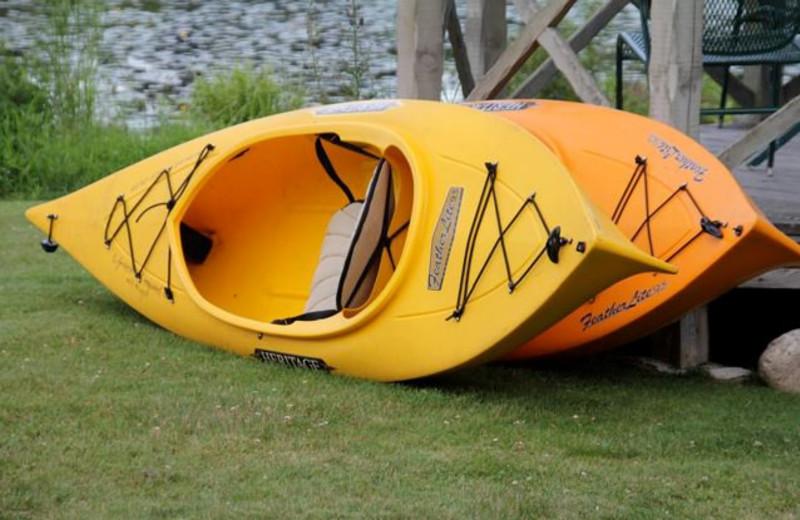 Kayaks at Wildwood on the Lake.