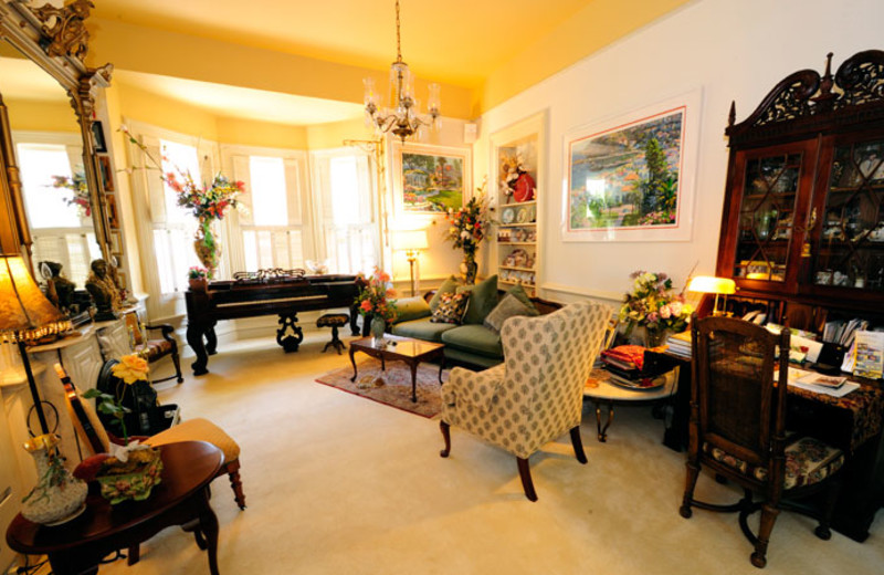 Parlor at Harkey House Bed & Breakfast.