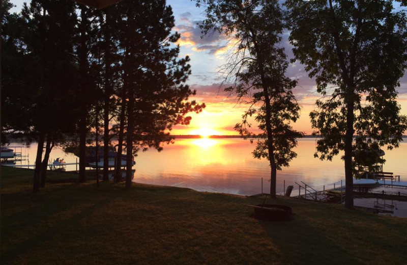 Sunset at Battle Lake Inn and Suites.