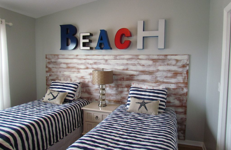 Rental bedroom at Long Key Vacation Rentals.