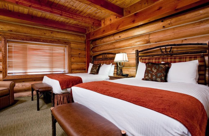Guest room at Garland Lodge & Resort.