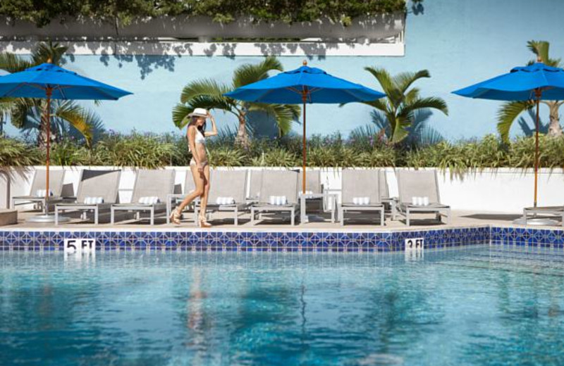 Outdoor pool at Miami Biscayne Bay Hotel.