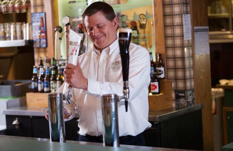 Bartender at Evergreen Resort.