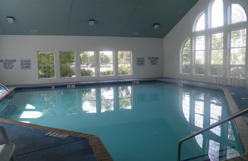 Indoor pool at Brunswick Plantation Resort.
