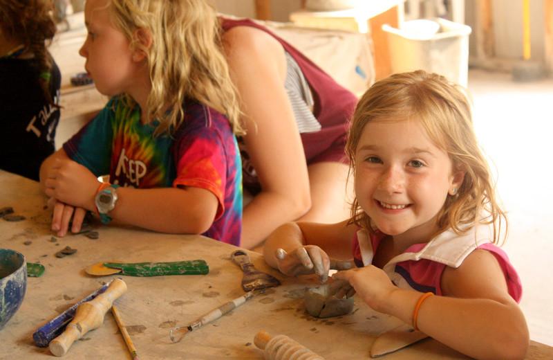 Arts and craft at Camp Champions on Lake LBJ.
