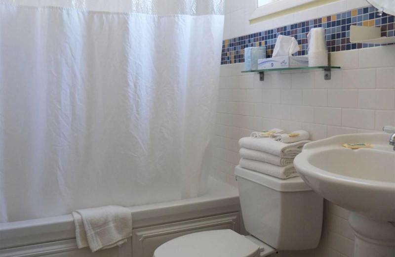Guest bathroom at Shalimar Resort and Conference Center.
