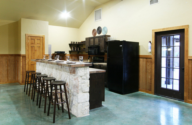 Lodge kitchen at Neal's Lodges.