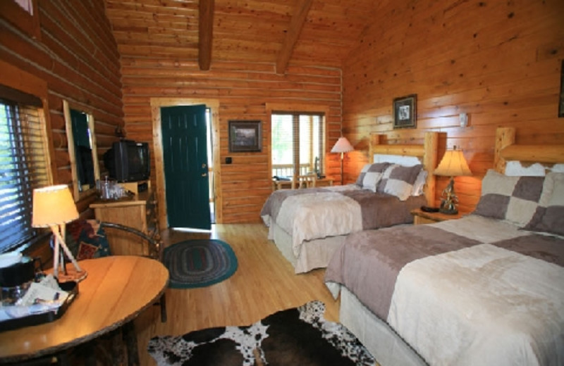 Bedroom at The Hideout Lodge & Guest Ranch.