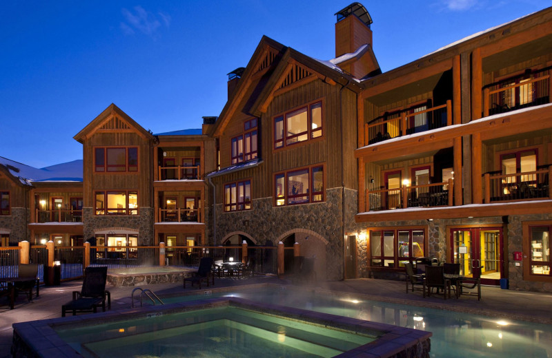 Exterior view of BlueSky Breckenridge - located adjacent to the Snowflake Lift with access to Peak 8 and Peak 9.