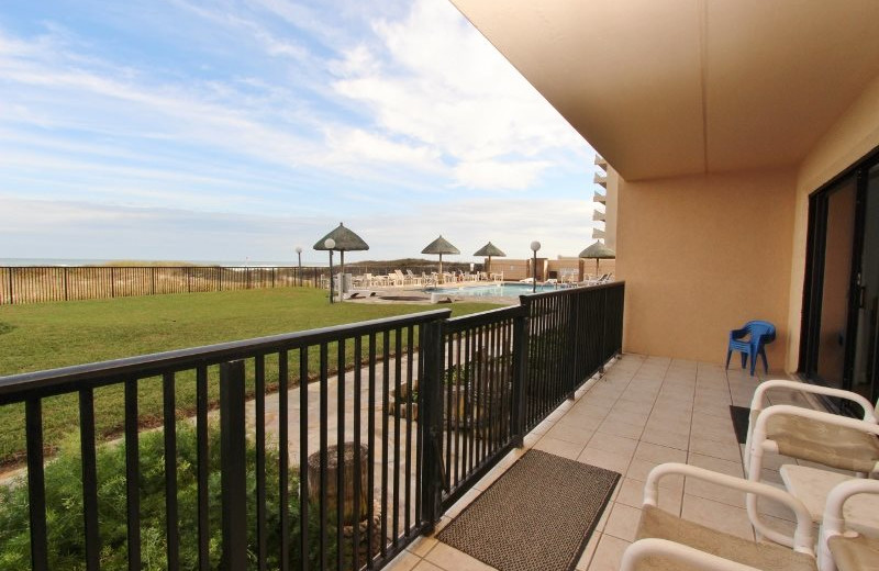 Rental balcony at Seabreeze I.