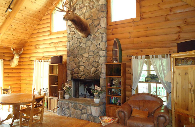 Cabin living room at Elk Ridge Ranch.