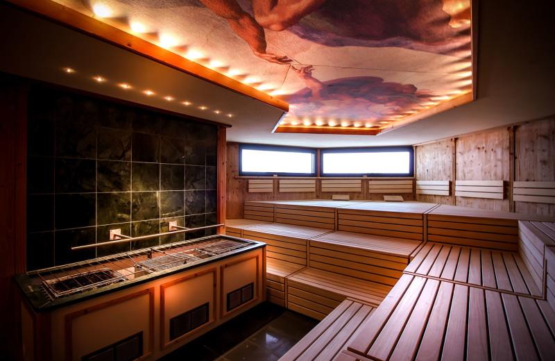 Sauna at Sparkling Hill Resort.