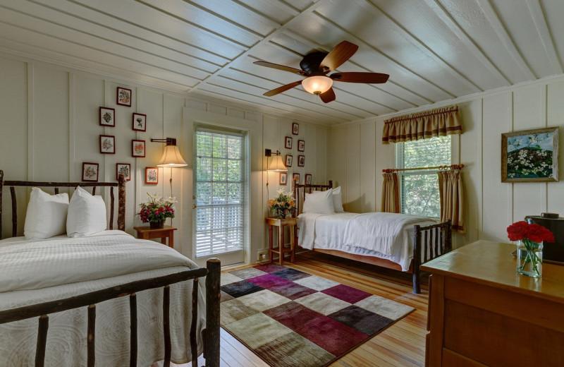 Guest bedroom at High Hampton Resort.