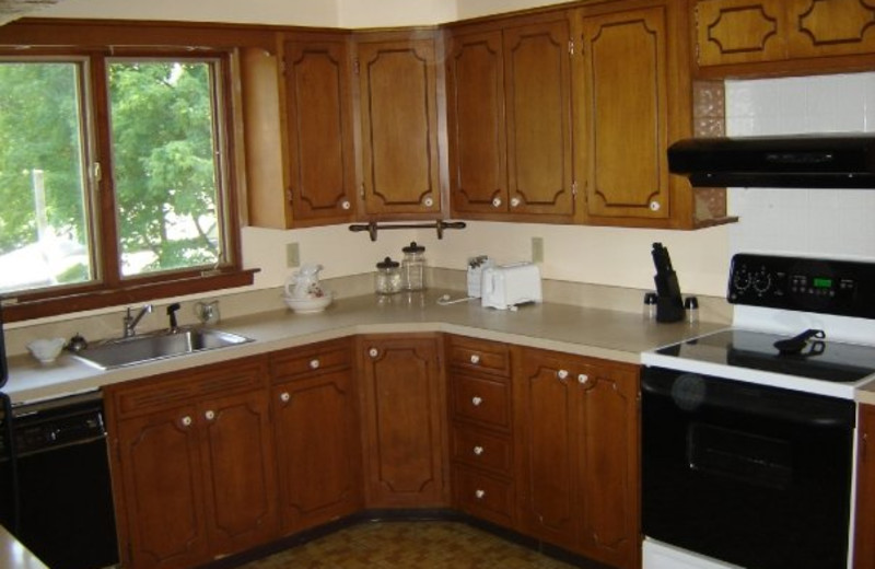 Guest kitchen at Tea Island Resort.