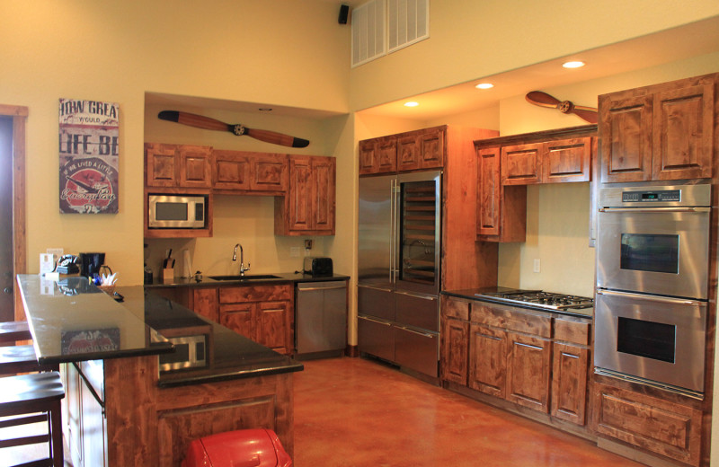 Guest kitchen at Flying L Hill Country Resort & Conference Center.