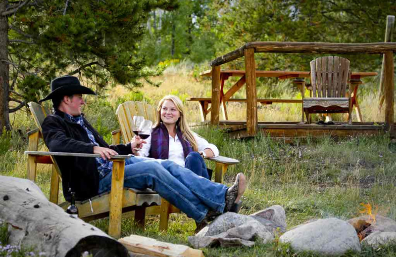 Couple at C Lazy U Ranch.