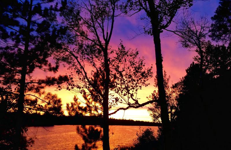 Sunset at Lakewood Lodge.