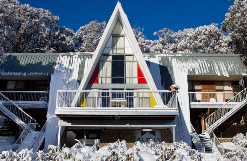 Exterior view of Alpha Ski Lodge.