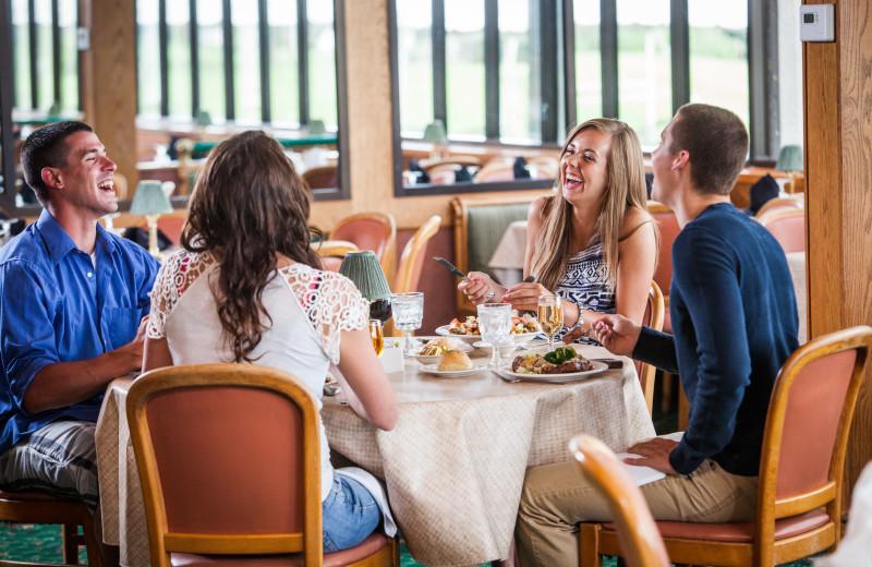 Dining at Evergreen Resort.