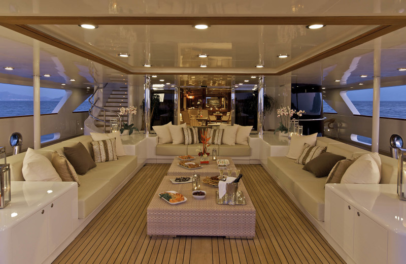 Rental yacht at Lauren Berger Collection.