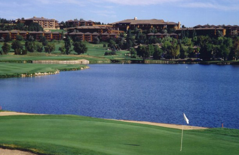 18-hole Pete Dye designed golf course at Cheyenne Mountain Resort.