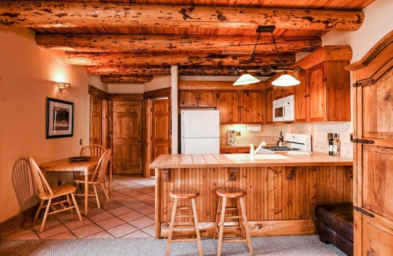 Guest kitchen at Chipeta Solar Springs Resort.