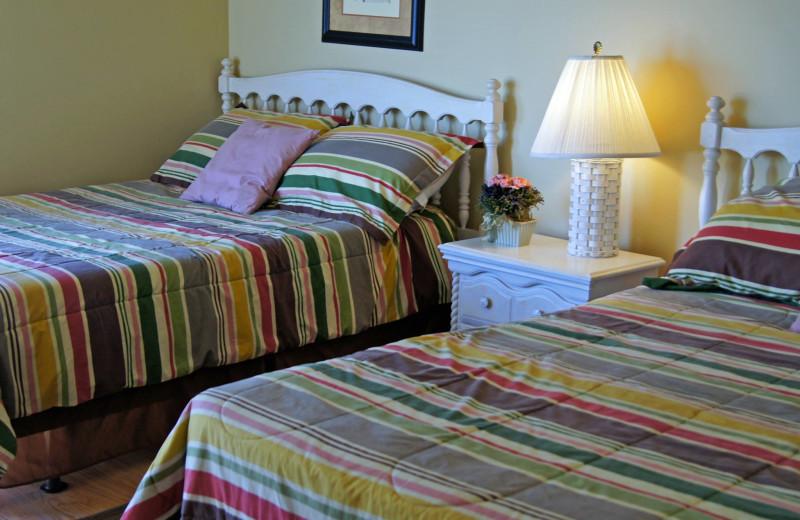 Rental bedroom at McMillan Oceanfront & Beach Rentals.